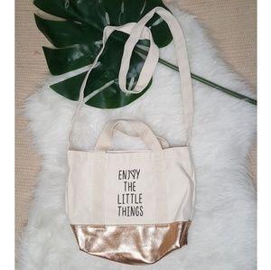 Handbags - Rose Gold Canvas Tote NWT